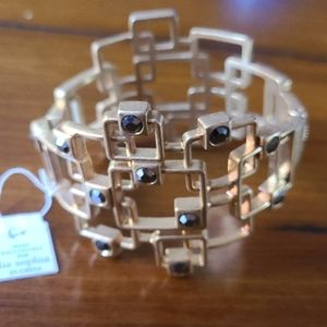 NWT Lia Sophia hinged bangle statement bracelet